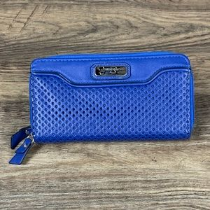 Jessica Simpson blue perforated leather wallet